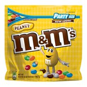 M&M'S Peanut Chocolate Candy Party Size Bag, 42 ounces