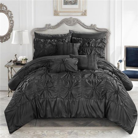 Chic Home Cs3586 Us Scofield Floral Pinch Pleat Ruffled