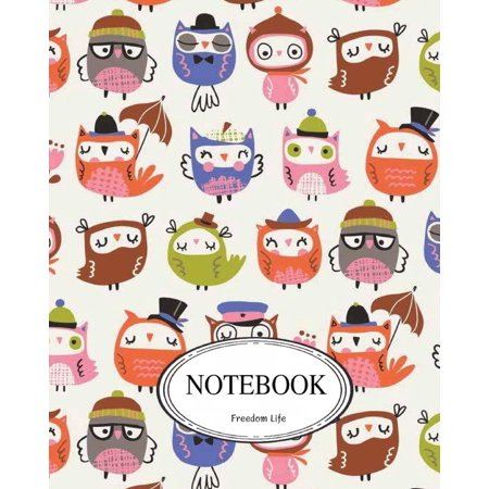 Notebook: Cute Owl: Pocket Notebook Journal Diary, 110 Pages, 8