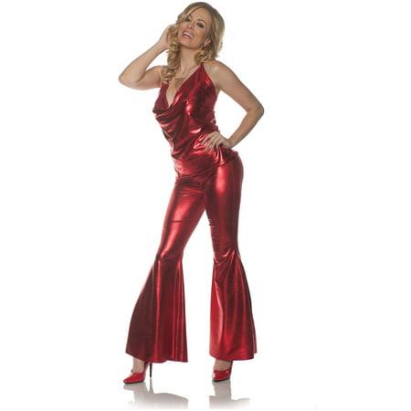 70s Disco Diva Costume (Women's 70s Ladies Night Red Disco Diva)