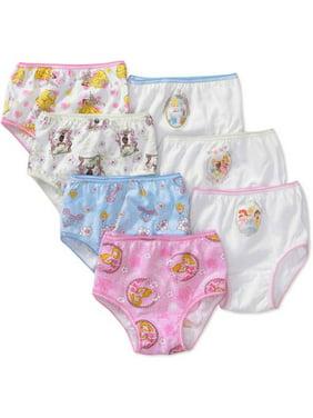 Disney Princesses Ariel, Cinderella & Rapunzel Brief Underwear Panties, 7-Pack (Toddler Girls)