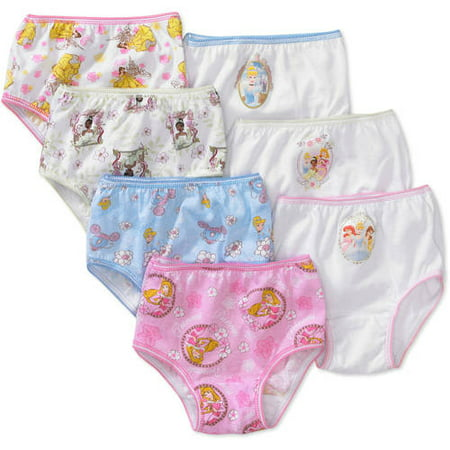 Disney Princesses Ariel, Cinderella & Rapunzel Brief Underwear, 7-Pack (Toddler