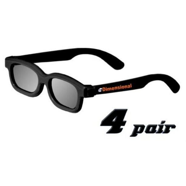 Child Sized ED KIDS 4 Pack Passive Theater Circular 3D Glasses For Vizio 3D TVs