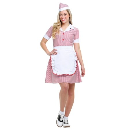 Women's Plus Size Car Hop Costume - Girls Car Hop Costume