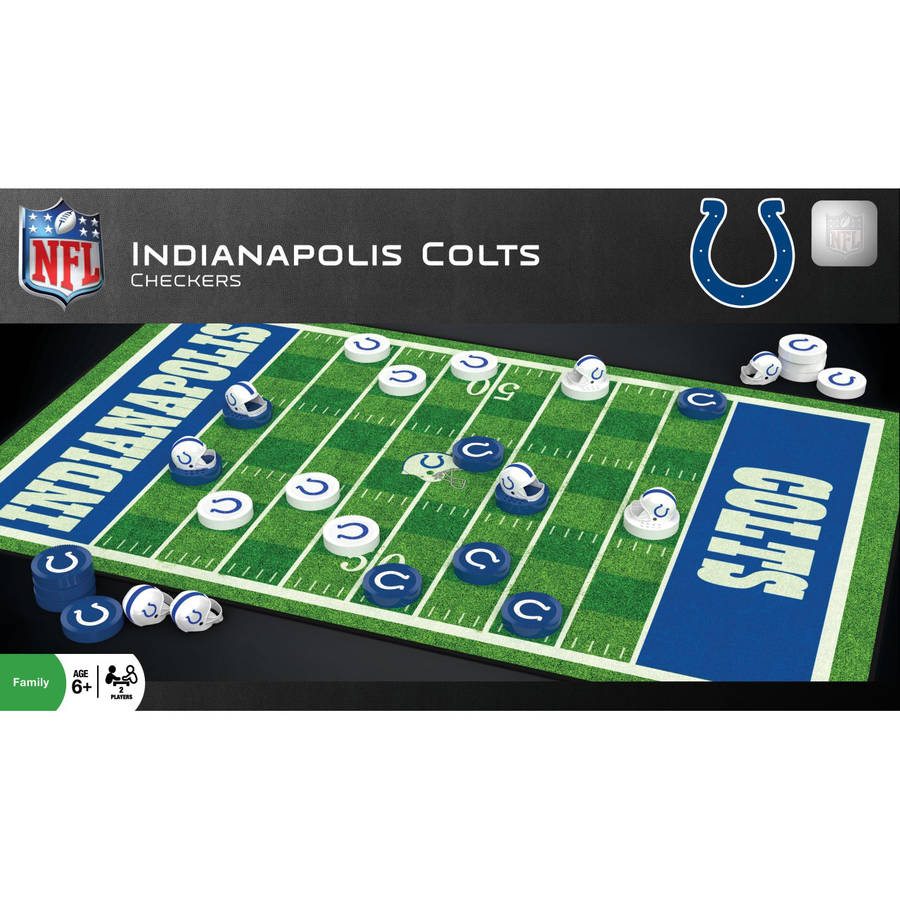 NFL Indianapolis Colts Team Checkers