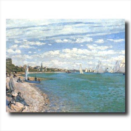 Monet Tropical Beach Sailboat Wall Picture Art Print Art Com Tropical Print