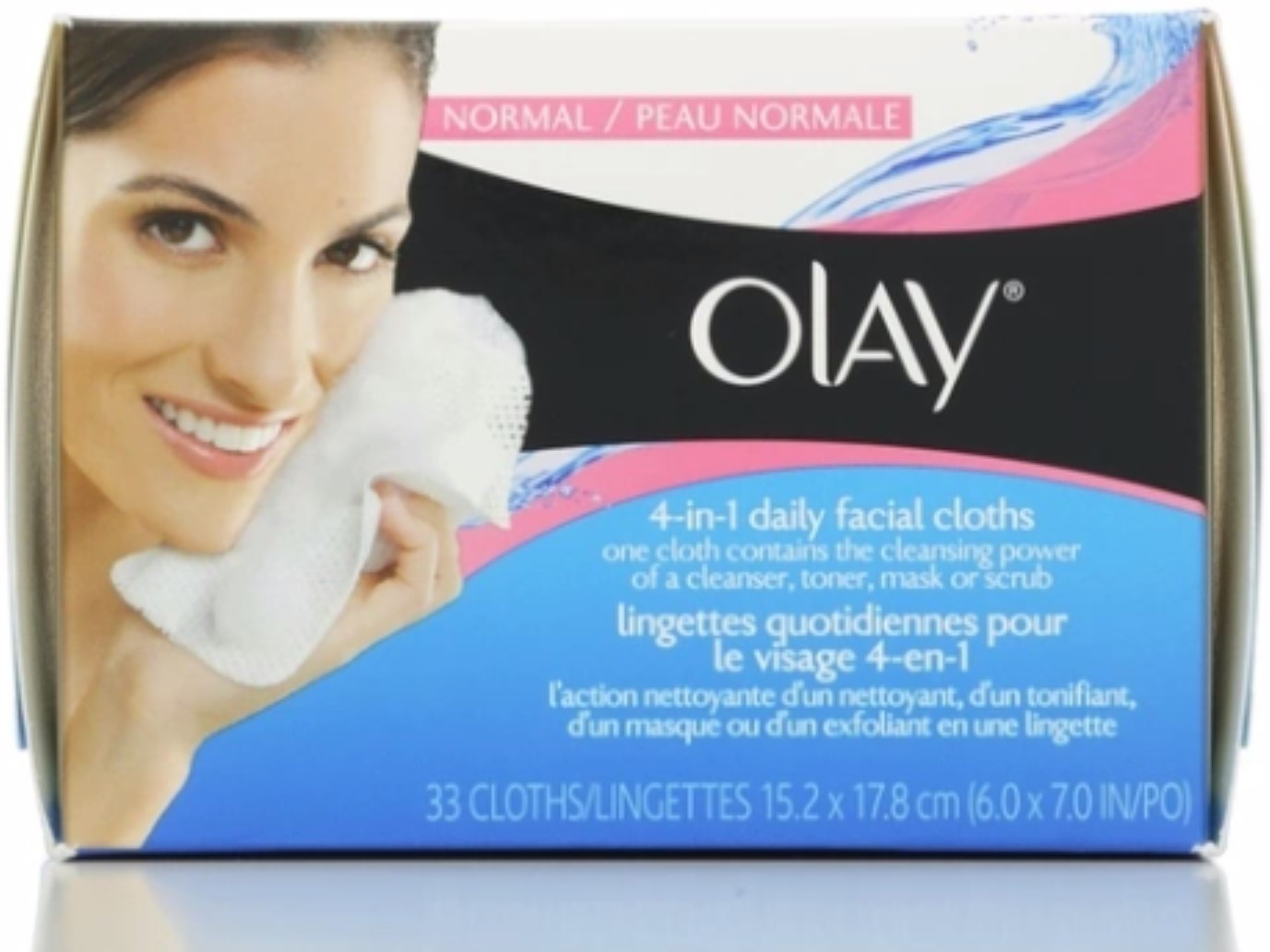 OLAY 4-in-1 Daily Facial Cloths Sensitive 33 Each (Pack of 2) eos Smooth Lip Balm Sphere, Honeysuckle Honeydew 0.25 oz (Pack of 3)