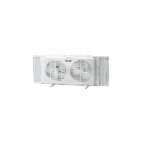 "Lasko 2137 Twin Window Fan - 7"", 2 Speeds, Fits Windows 22""-34"" Wide, White"