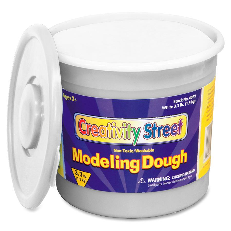 Creativity Street, CKC4069, 3lb Tub Modeling Dough, 1 Each, White