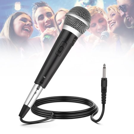 TSV Wired Dynamic Karaoke Microphones, Professional Handheld Vocal Mic with 10ft 6.35mm XLR Audio Cable Compatible with Karaoke Machine/Speaker/Amp/Mixer for Singing, Speech, Wedding,