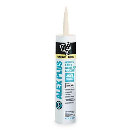 Dap 18130 11 Oz Almond Alex Plus  Acrylic Latex Caulk With Silicone