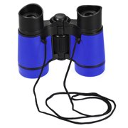 Toy Binoculars 4X30 Compact Foldable Binoculars Shock Proof Blue with Neck Strap for Bird Watching Hiking