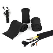 "3 PACK 40"" Cable Management Sleeve 120 Inches Neoprene Wire Cord Cover Organizer"