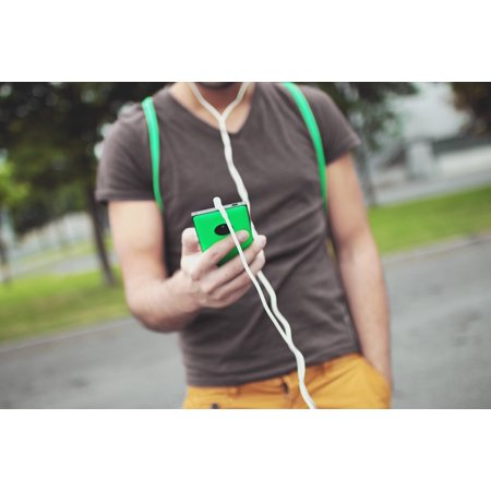 LAMINATED POSTER Music Smartphone Man Guy Mobile Audio Headphones Poster Print 24 x 36 ()