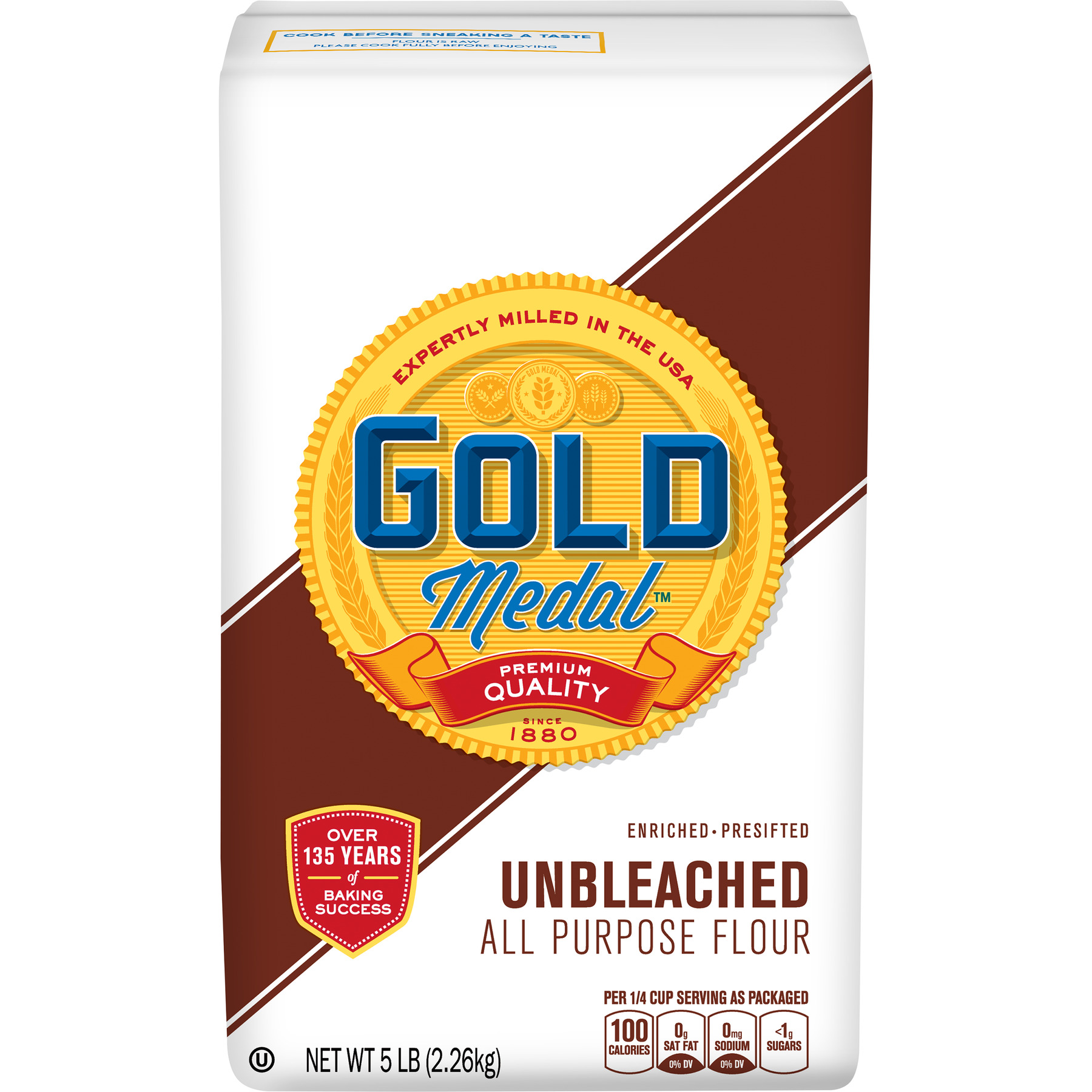 Gold Medal Unbleached, All Purpose Flour, 5 lb Bag