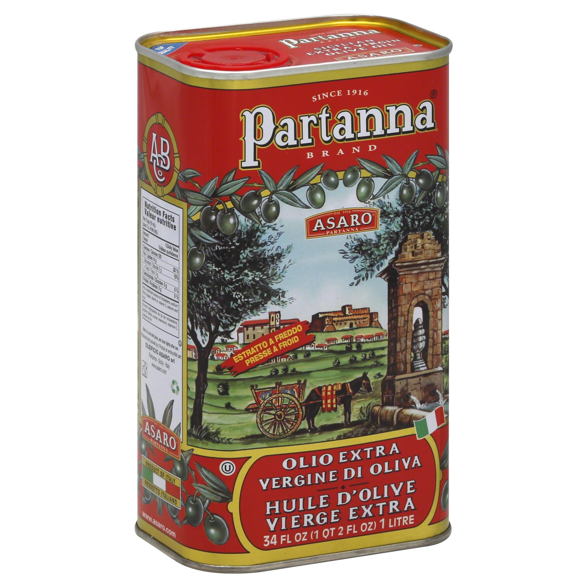 Partanna Extra Virgin Olive Oil, 1L Tin