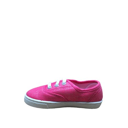 Faded Glory Toddler Girls' Hillary Canvas Lace Up Casual Shoe