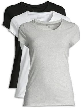 No Boundaries Juniors' Everyday Scoop T-Shirt 3 Pack