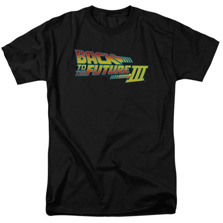 Trevco BACK TO THE FUTURE III LOGO Black Adult Unisex T-Shirt - Back To The Future Nike