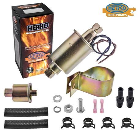 New Herko KD8016 Universal In Line Electric Fuel Pump Low Flow 4 - 7 PSI 30 GPH