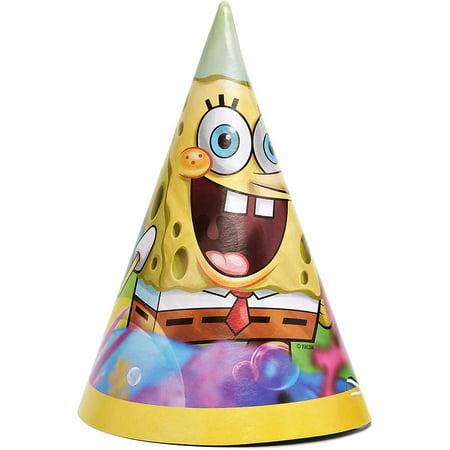 SpongeBob SquarePants Party Hats 8ct