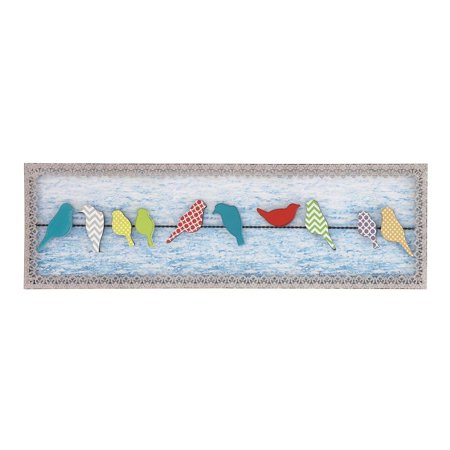 The Gray Barn  Jartop Birds on A Wire Metal and Wood Wall Decor](Metal Bird Wall Decor)