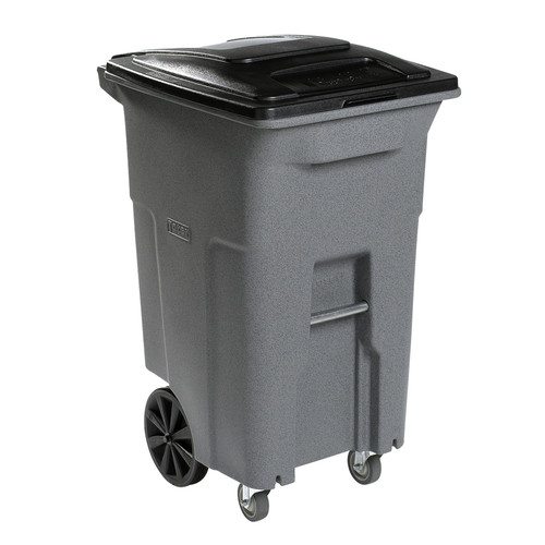 Toter Heavy Duty Two Wheeled 64 Gallon Trash Can Walmart Com