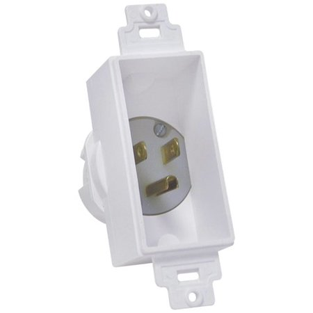 - Midlite 4642-w Single-gang Decor Recessed Power Inlet