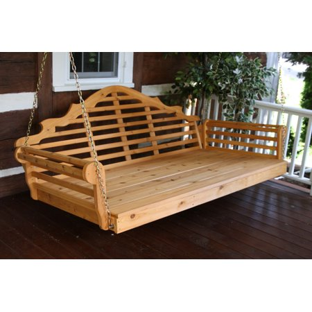 Redwood Swing (Furniture Barn USA™ 75 Inch Cedar Lattice Back Swing Bed)
