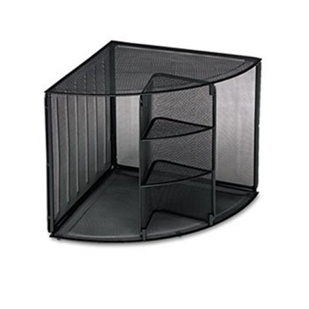 Mesh Corner Desktop Shelf, Five Sections, 20 x 14 x 13, (Corner Section Top)