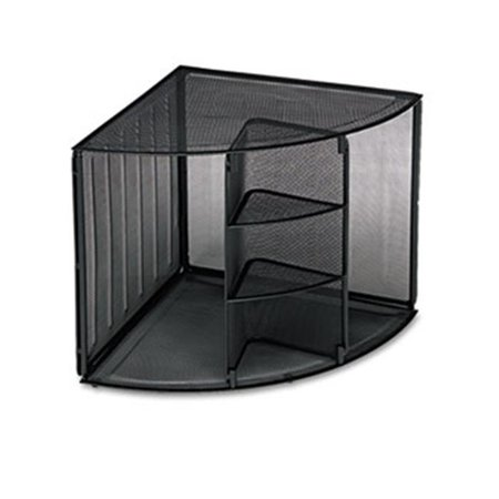 Eldon Office Products 62630 Mesh Corner Desktop Shelf, Five Sections, 20 x 14 x 13, (Corner Section Top)