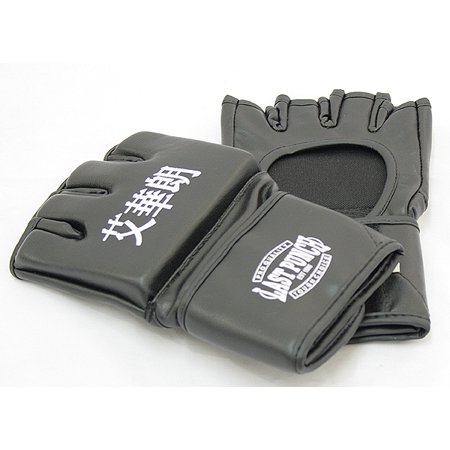 Autographed Ufc Glove - Last Punch Black Grappling MMA Training Gloves UFC Style Gloves S M L XL Size