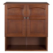 Elegant Home Fashions Double Door Cabinet with Open Shelf