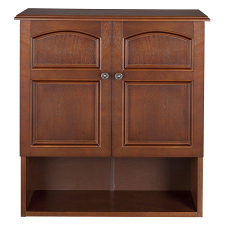 Mahogany Pine Cabinet (Elegant Home Fashions Elgin Wall Cabinet, Salvage Wood Finish)
