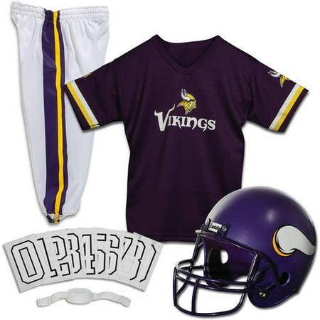 Marshall Minnesota Vikings Autographed Helmet (Franklin Sports NFL Minnesota Vikings Youth Licensed Deluxe Uniform Set,)
