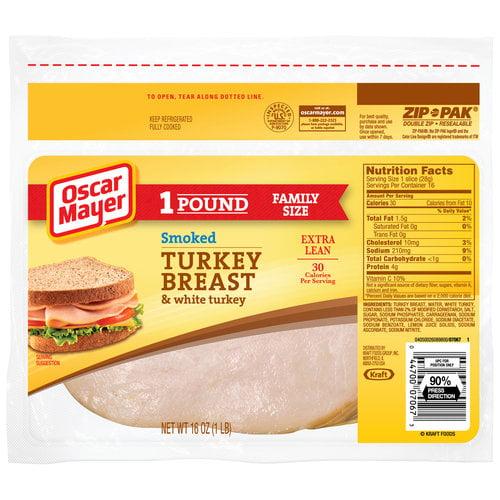 Oscar Mayer Smoked Turkey Breast & White Turkey, 16 oz