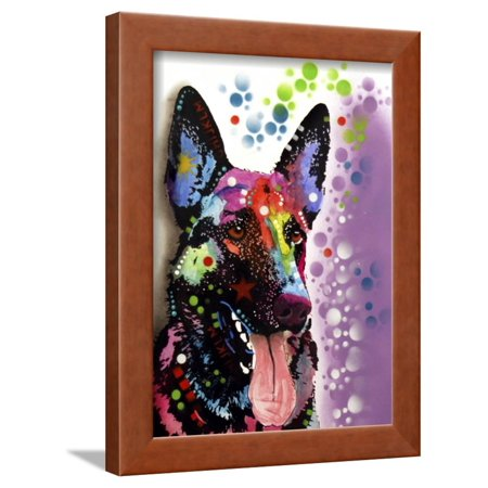 German Shepherd Afghan - German Shepherd Framed Print Wall Art By Dean Russo