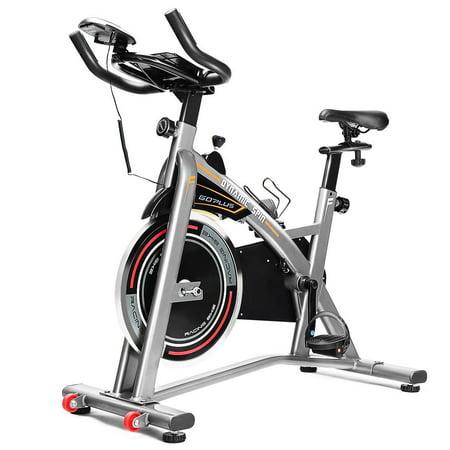 Goplus Exercise Bike LCD Display Adjustable Seat Handlebars Indoor Cycle Trainer Holder