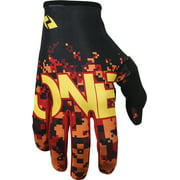 One Industries Zero Full Finger Glove: Camo Red XL