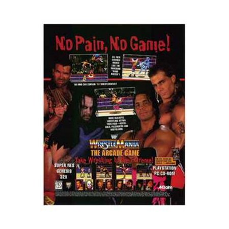 Wwf Wrestlemania Movie Poster (11 x 17)