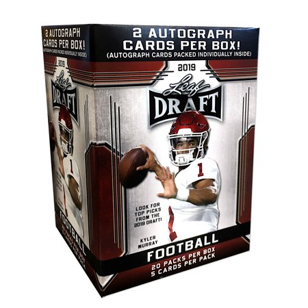 2019 Leaf Draft Picks NFL Football Value Box- 2 Autographs Per Box| 20 packs included | Featuring Kyler - Football Valentine Box