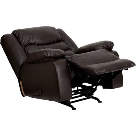 Flash Furniture Plush Leather Rocker Recliner, Brown