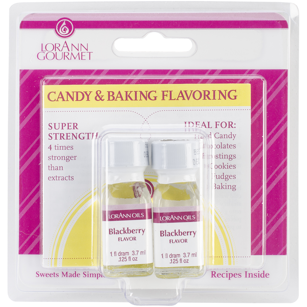 Candy & Baking Flavoring .125oz 2/Pkg-Blackberry