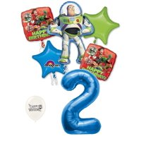 2nd Birthday Toy Story Buzz Lightyear and Friends Party Decorations Balloon Bouquet
