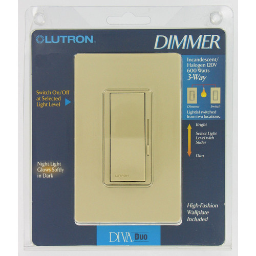 Lutron 3-Way Diva Duo Dimmer