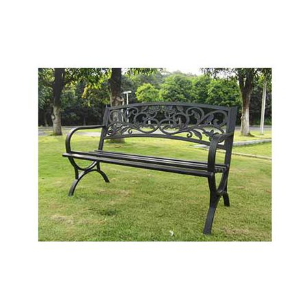 Imperial Power Ip D2923c Garden Bench  Scroll Back Steel   Iron
