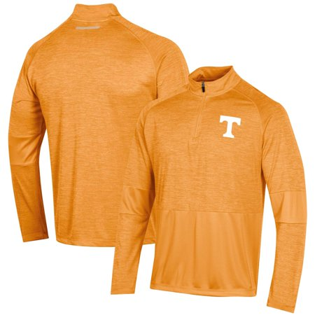 Men's Russell Athletic Heathered Tennessee Orange Tennessee Volunteers Athletic Fit Quarter-Zip Pullover Jacket Project Athletic Fit Jacket
