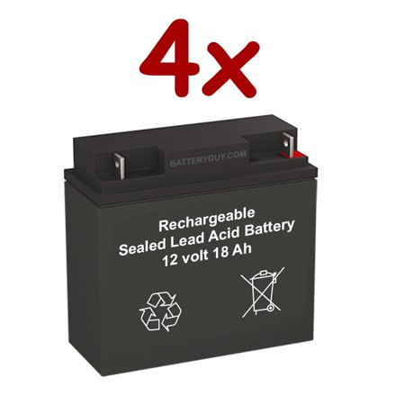 Best Power FERRUPS ME 1.8KVA replacement battery pack (rechargeable, high rate) - BGH-12180NB (Qty of