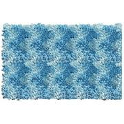 The Rug Market Shaggy Raggy Blue Chevron Size 2.7' x 4.7' Area Rug