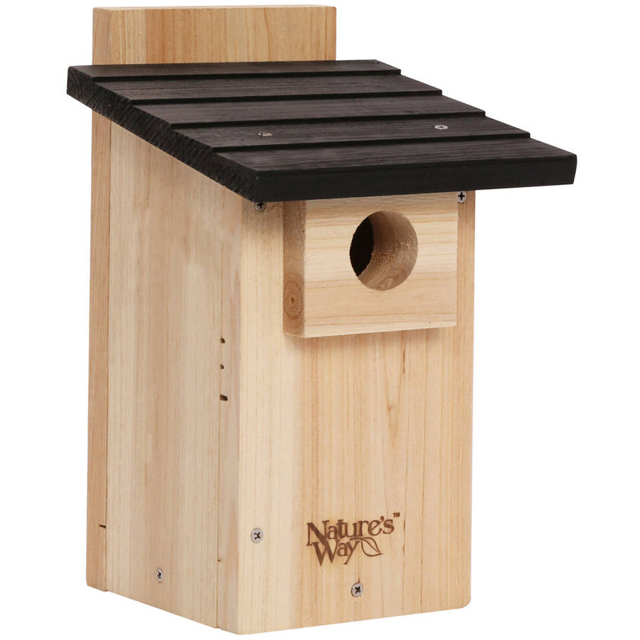 "Nature's Way CWH4 12"" H x 7-1/2"" W x 8-1/8"" D Bluebird Box House with Window"